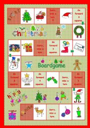 board game printables for christmas