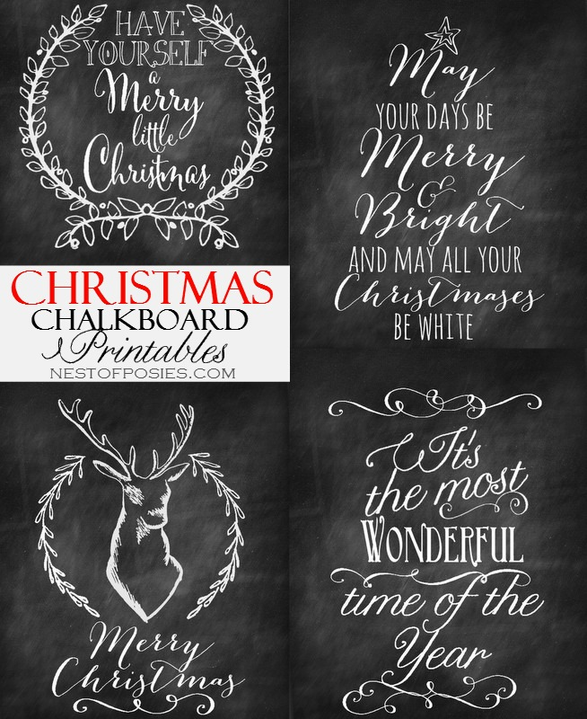 chalk printables for christmas