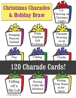 charade printables for christmas