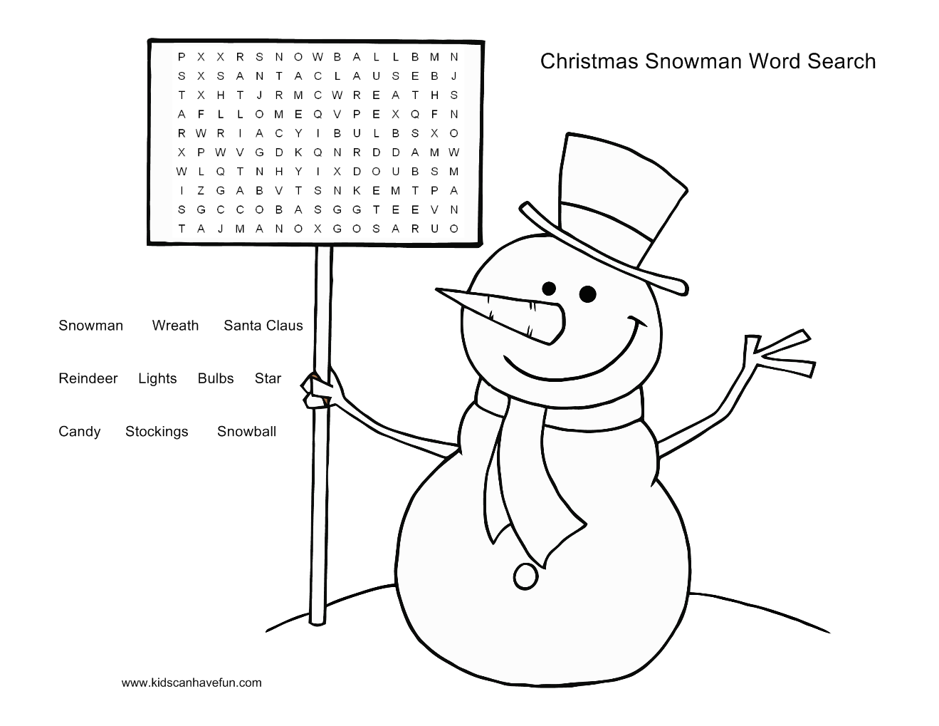childrens christmas puzzles printable