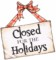 Christmas Closed Sign Printable