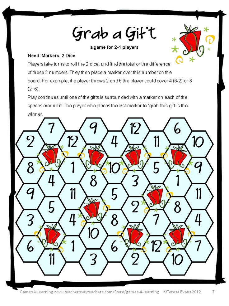 photo regarding Printable Maths Games and Puzzles known as Xmas Online games Puzzles Printable - Xmas Printables