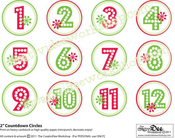 photograph regarding Advent Calendar Numbers Printable identify Xmas Figures Printable - Xmas Printables
