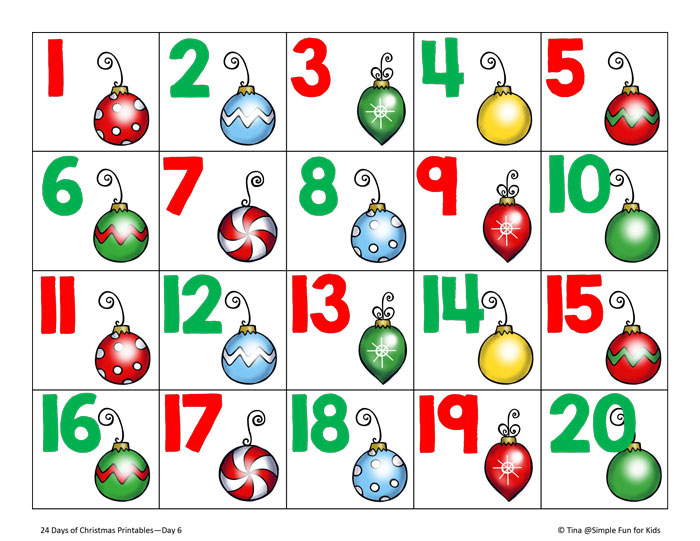 christmas numbers printable
