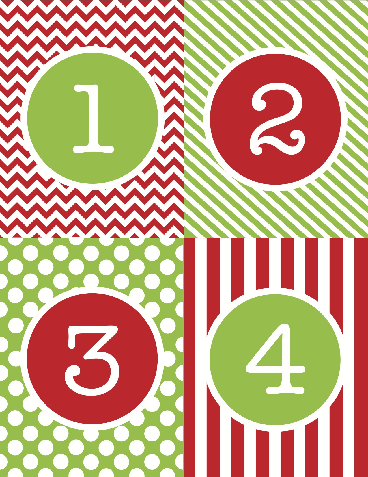 image relating to Free Printable Advent Calendar Template referred to as Xmas Quantities Printable - Xmas Printables