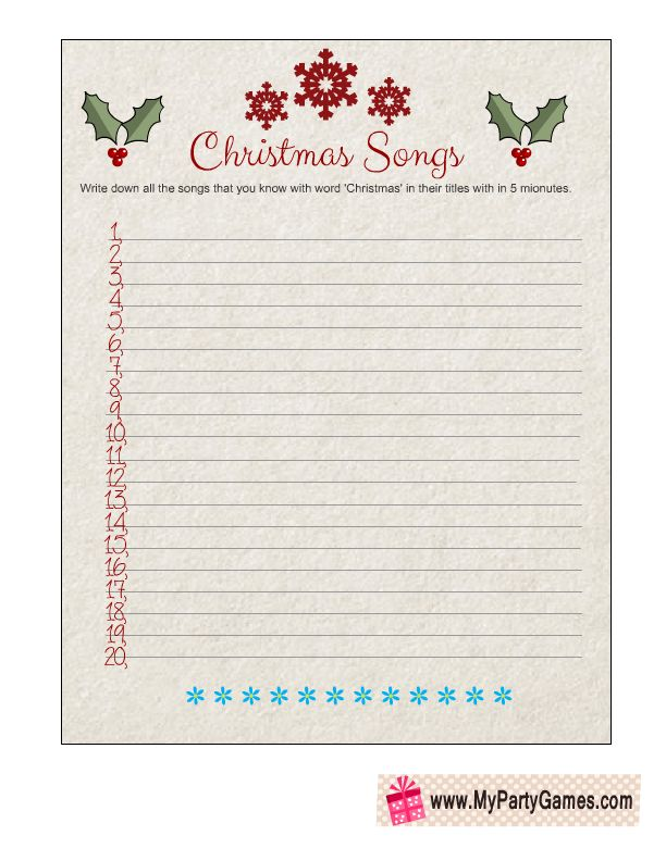 christmas paper games printable free
