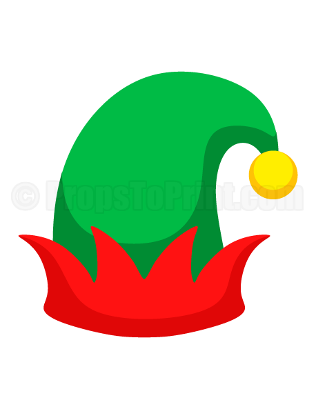 Dashing image throughout elf hat printable