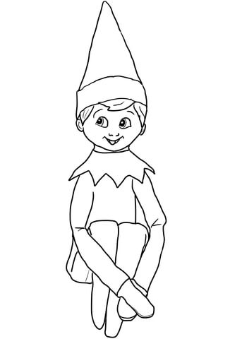 elf on a shelf coloring pages printable
