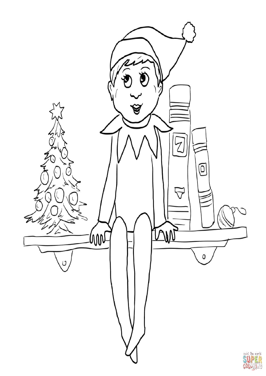 Elf On A Shelf Coloring Pages Printable - Christmas Printables