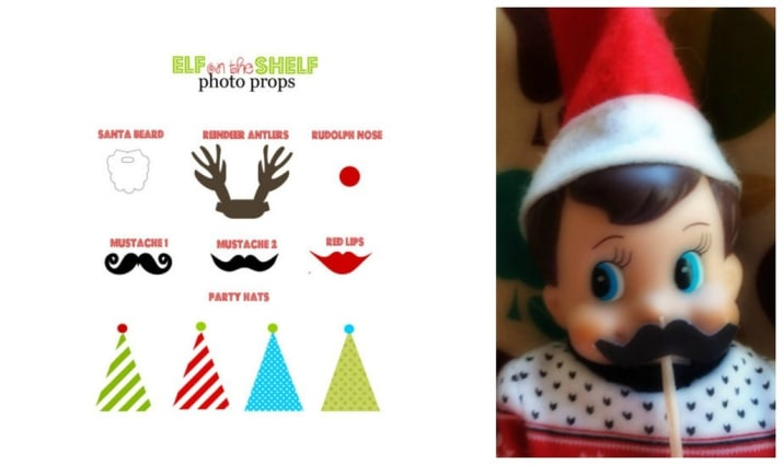 elf on the shelf free printable props