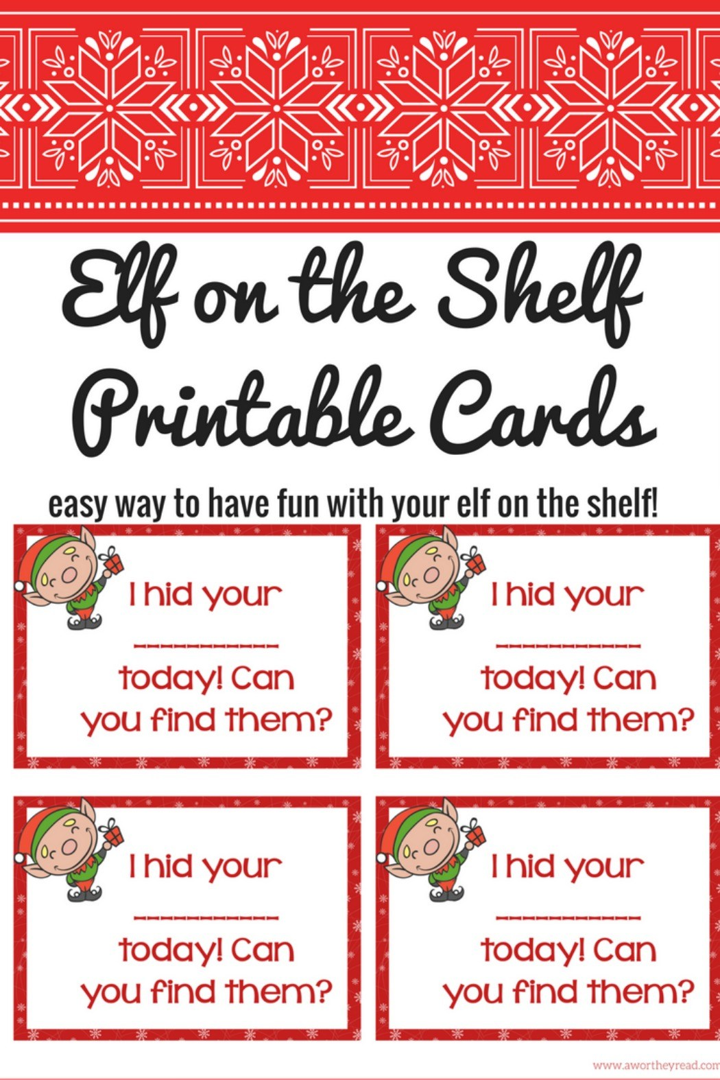 elf on the shelf print