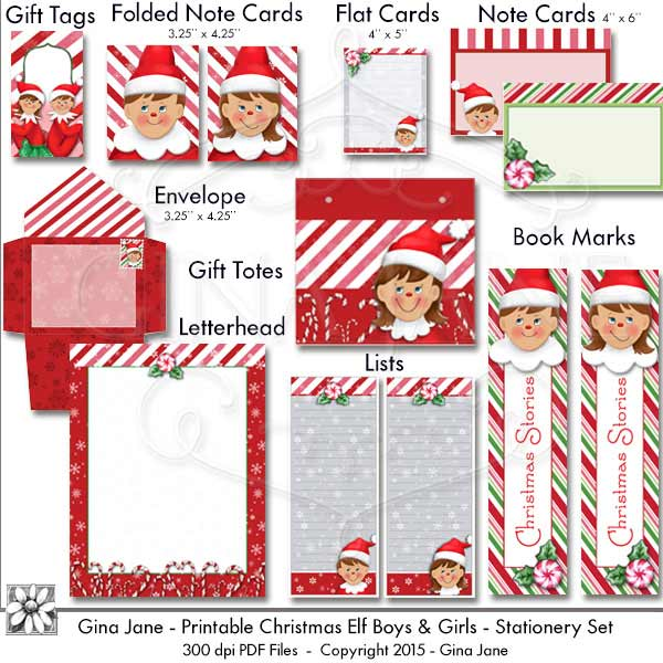 Christmas elf gift tag free printable