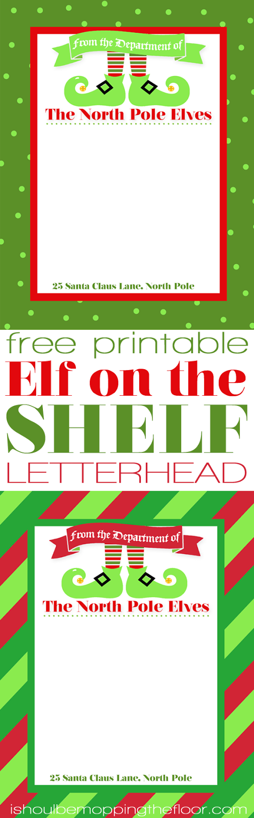 Adorable image for free printable elf on the shelf letter