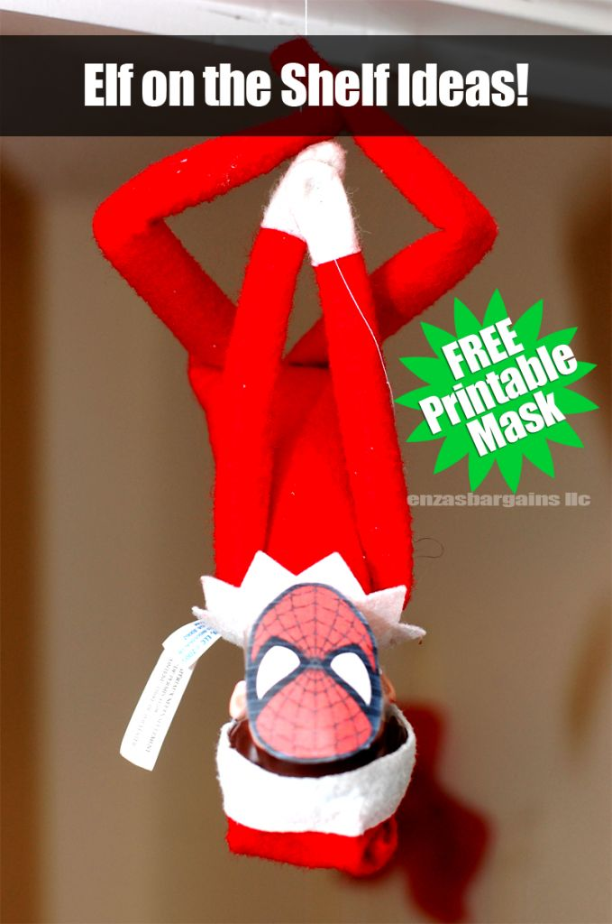 elf on the shelf printable mask