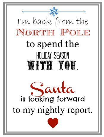 elf on the shelf welcome letter printable
