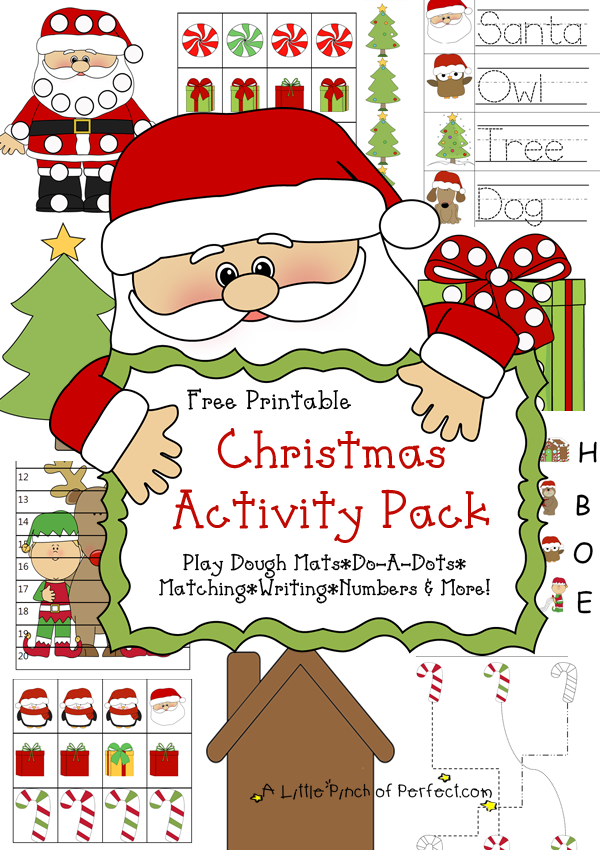 free childrens christmas activities printable