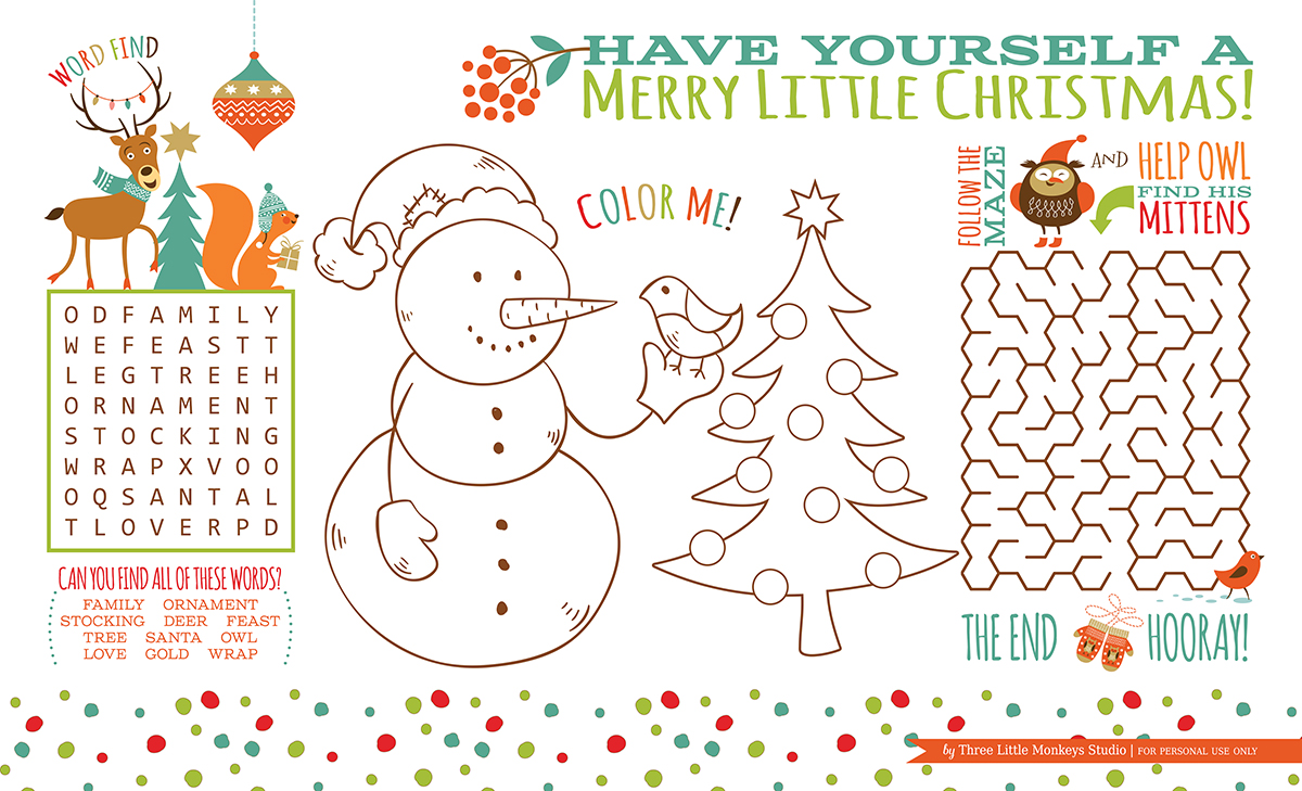 free christmas activities to print