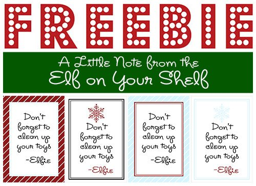 free elf on the shelf printable notes