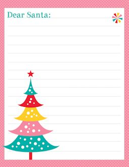 free letters from santa templates to print