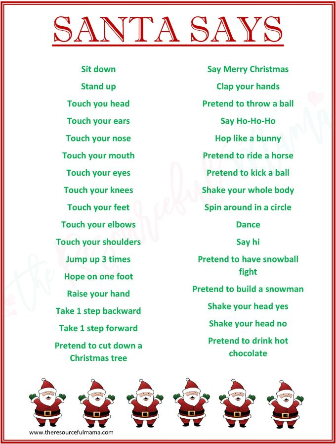 Free Printable Childrens Christmas