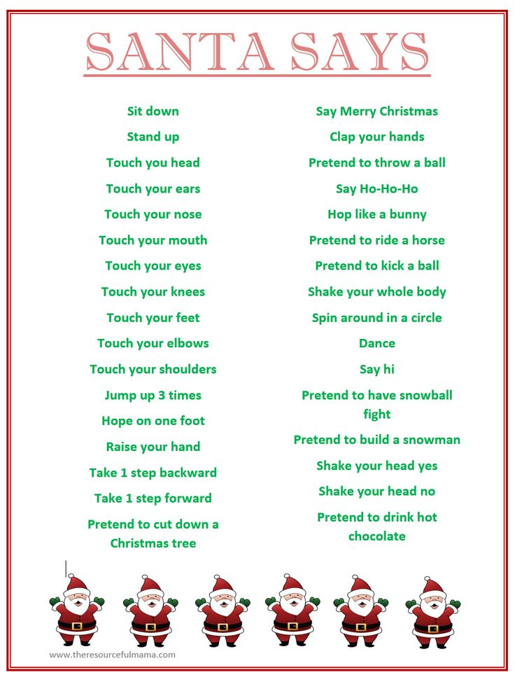 free printable childrens christmas games
