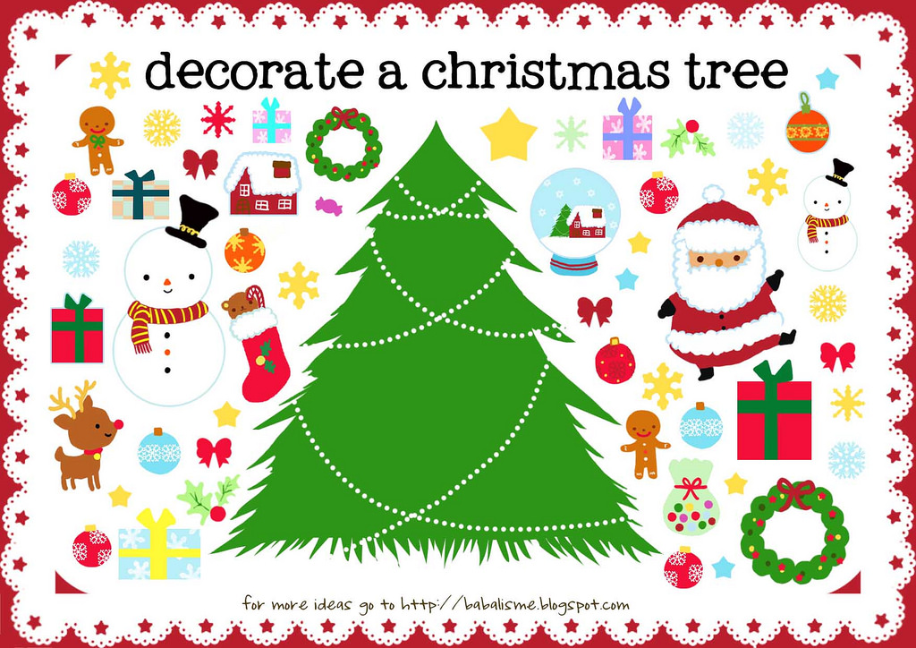 graphic regarding Free Printable Christmas Tree called Absolutely free Printable Xmas Actions For Young children - Xmas