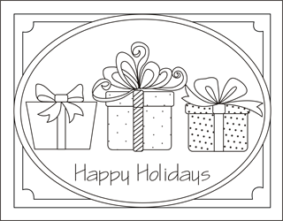 free printable christmas cards for kids to color