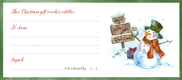 free printable christmas gift card
