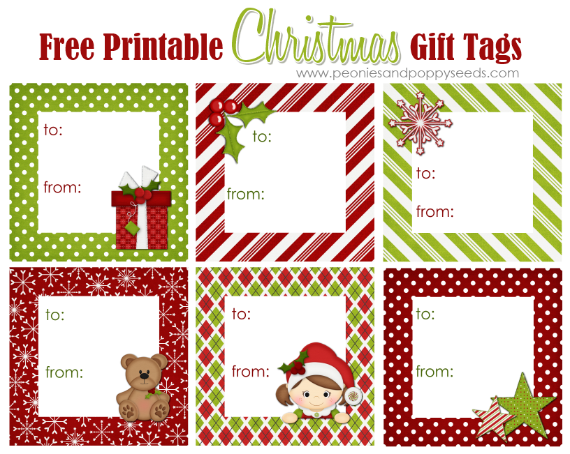 free printable christmas gift tags for kids