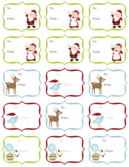 free printable christmas gift tags templates