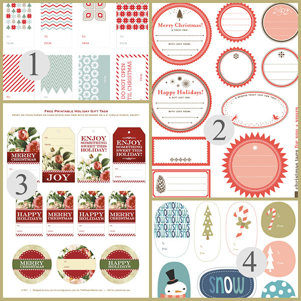 free printable christmas gift tags templates christmas printables
