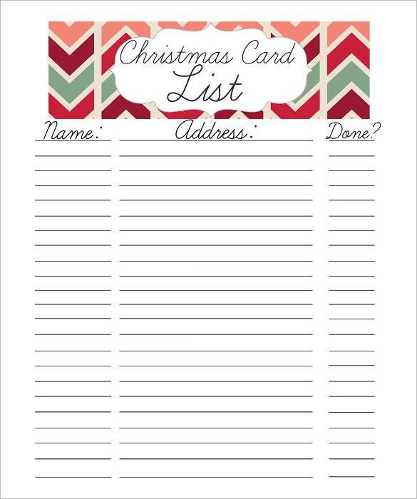 graphic regarding Christmas Gifts List Printable identified as Free of charge Printable Xmas Checklist Template - Xmas Printables
