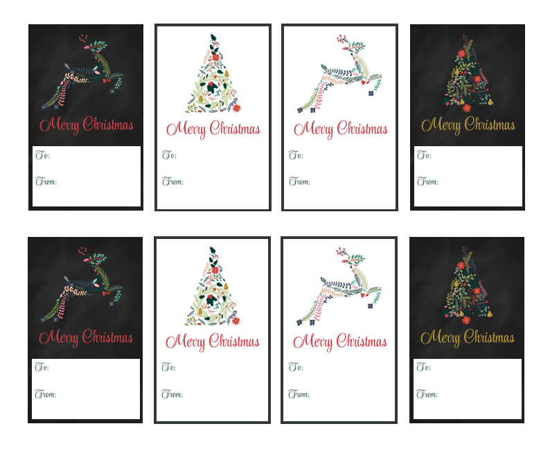 free printable christmas name tags