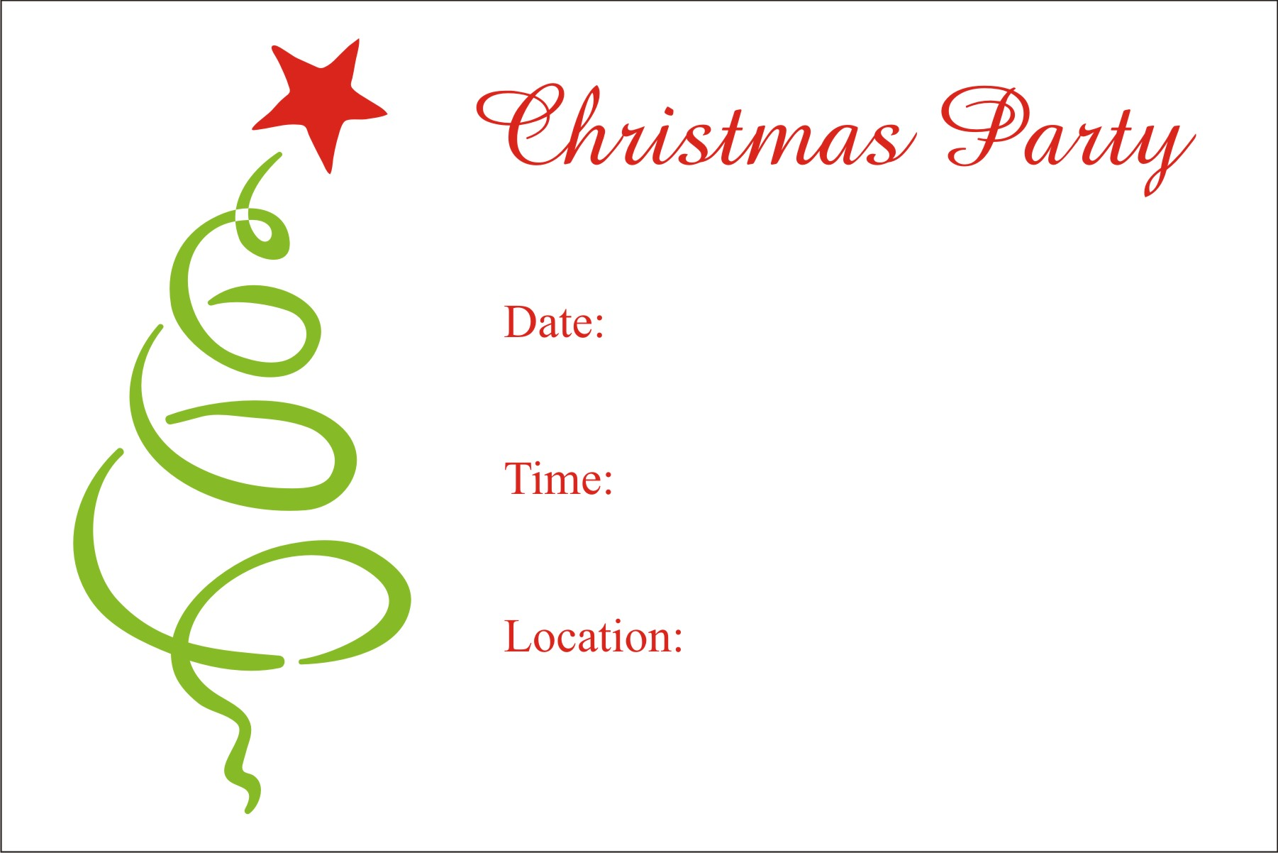 free printable christmas party templates