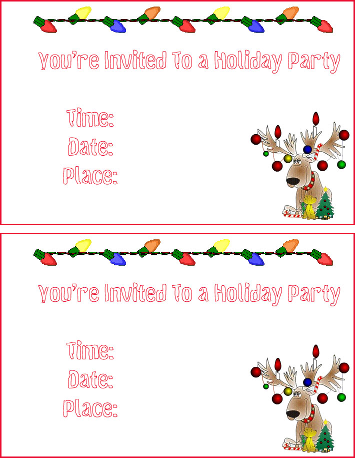Free Printable Christmas Party Templates Christmas Printables