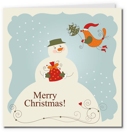 free printable christmas postcards