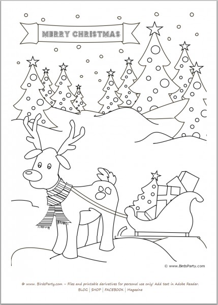 free printable christmas sheets