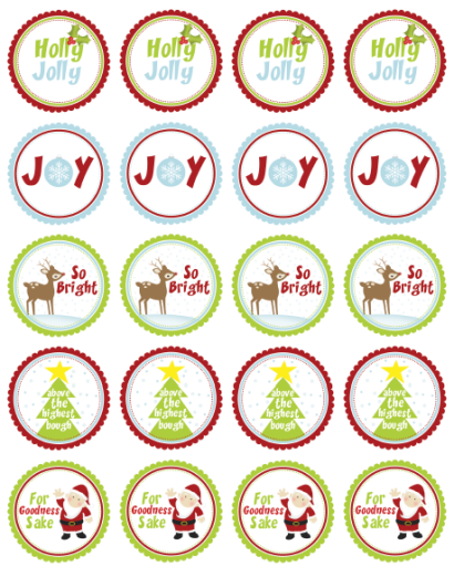 free printable christmas to and from labels