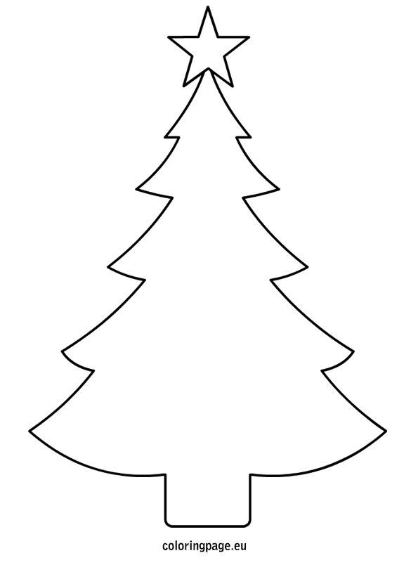 free printable christmas tree cutouts