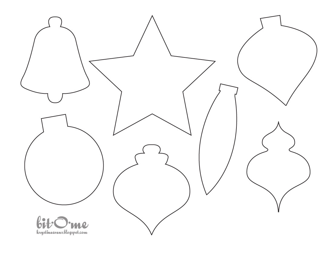 photograph regarding Tree Pattern Printable known as Cost-free Printable Xmas Tree Decorations - Xmas Printables