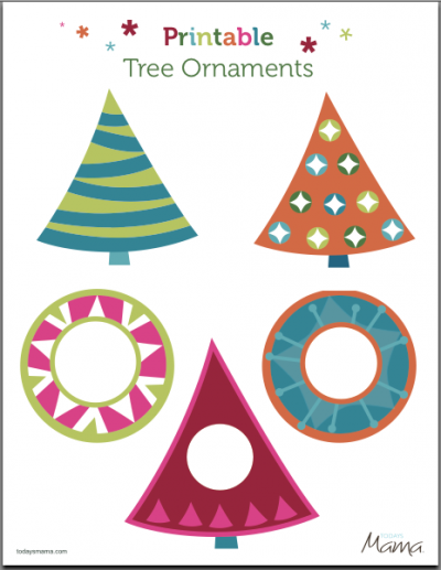 photo regarding Printable Ornaments Template named No cost Printable Xmas Tree Decorations - Xmas Printables
