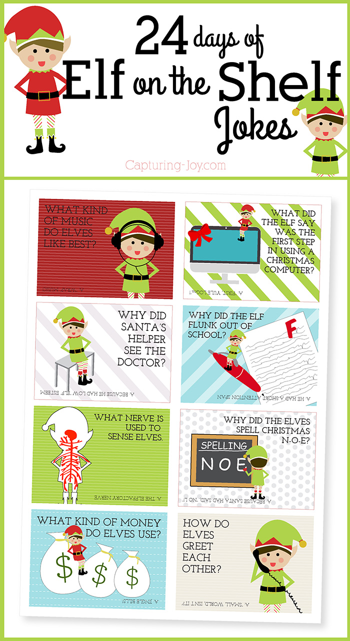 free printable elf on the shelf ideas