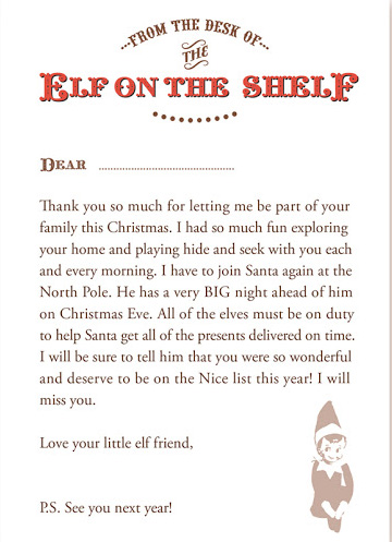 free printable elf on the shelf welcome letter