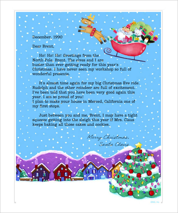 free printable letter from santa 2017