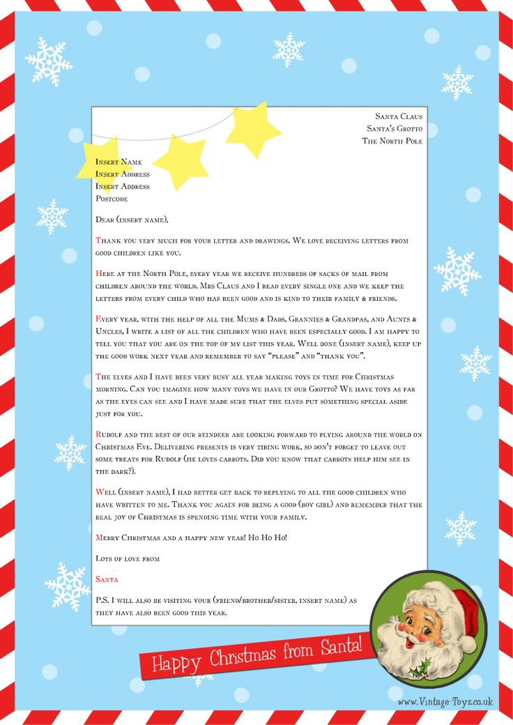 free printable letter from santa word template