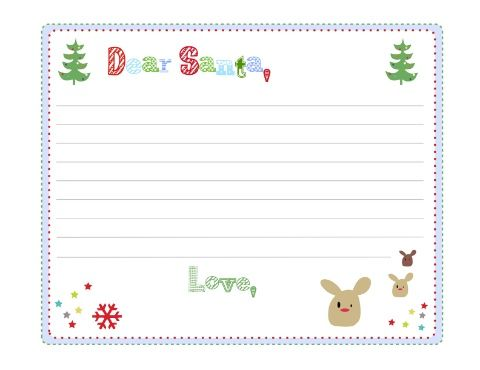 free printable letters to santa claus templates