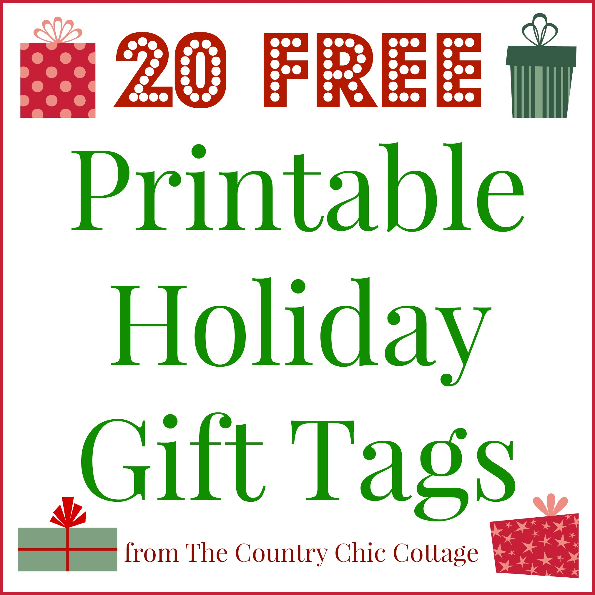 free printable merry christmas gift tags