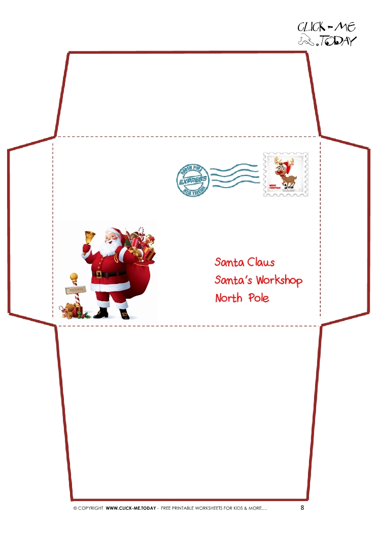 free printable santa envelopes