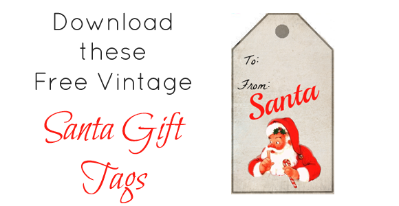picture about Secret Santa Gift Tags Printable named Free of charge Printable Santa Present Tags - Xmas Printables