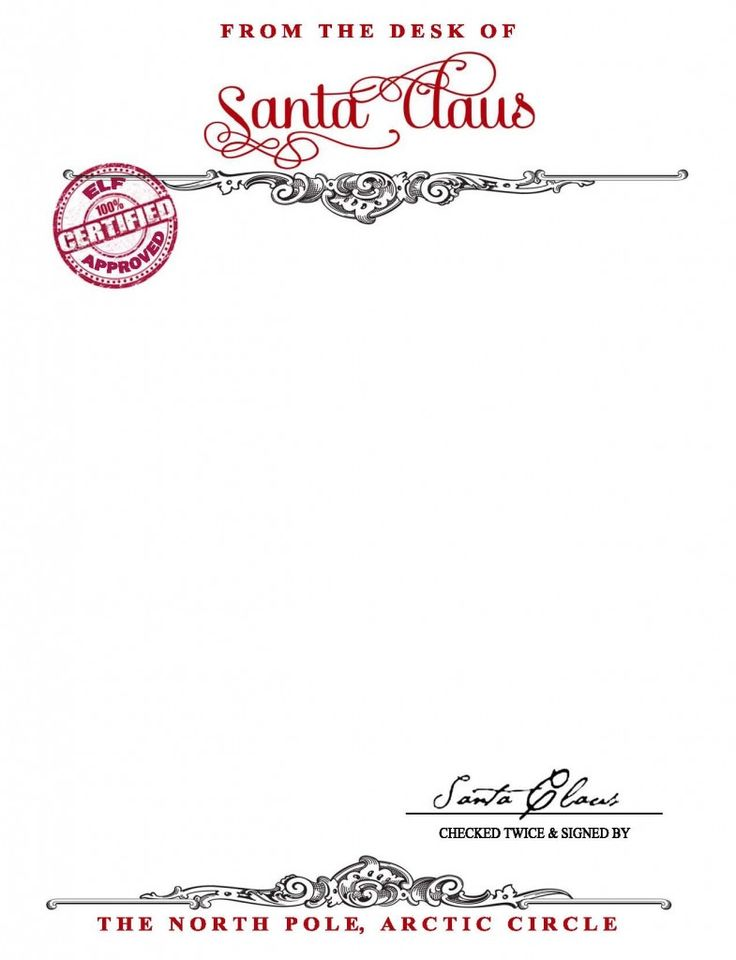picture about Printable Christmas Letterhead called No cost Printable Santa Letterhead Templates - Xmas Printables